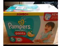 Pampers pull up pants..nappies.. size 5.. box 64