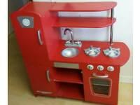 Kidcraft red vintage kitchen