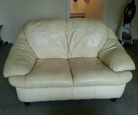 3&2 seater cream couch