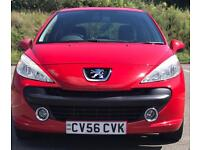 2006 (SEP06) PEUGEOT 207 1.6 SPORT - DIESEL - LOW MILES - MANUAL - 1 OWNER - RED