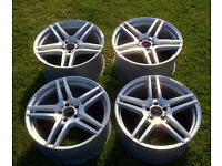 "AMG Mercedes Staggared Alloy Wheels 5x112 19""x8.5J/9.5J VW Audi T4 etc.."