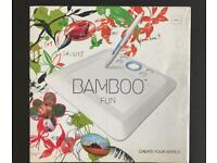 Wacom Bamboo Fun Graphics Tablet with Pen and Leads