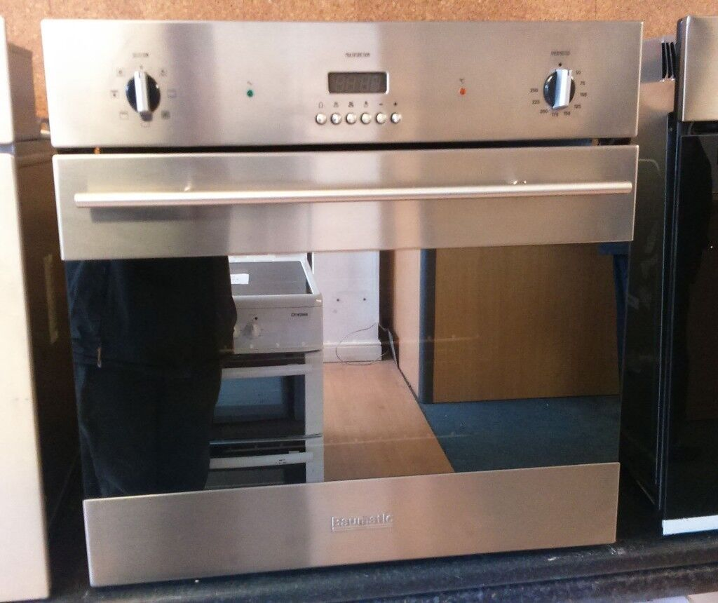 Baumatic B187ssb Fan Assisted Single Electric Oven In Stainless Collection Ovens Lamona Steel