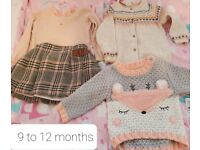 Baby girls clothes bundle 6 - 12 months