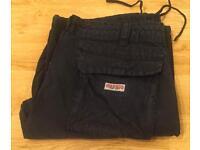 Brand new authentic True Religion Brand Jeans dark blue cargo pants. Waist 33. Thick stitch