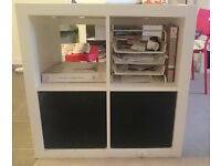 book shelf, shelving unit, book case, Ikea Expedit 2x2 White, used - pick up from Greenwich