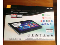 "Windows 32gb, 10.1"" tablet, wifi, quad-core, 5mp 2mp camera, bluetooth, hdmi, sd, office 365"