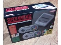 *** BRAND NEW NINTENDO CLASSIC MINI: SUPER NINTENDO ENTERTAINMENT SYSTEM (SNES) ***