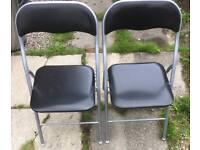 Folding chairs, deck chair, seat, black