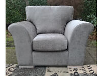 A New Light Brown Fabric Material Arm Chair