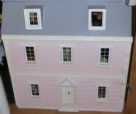 Large PINK DOLLS HOUSE 3 storey Inc Furniture