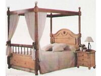 double four poster pine bed