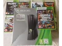 MICROSOFT XBOX 360 S 250GB /GO 1439 & 7 GAMES GTA 5 GTA 4 CALL OF DUTY GHOSTS ASSASSINS CREED