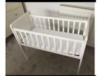 White crib cot wooden BRAND NEW