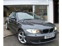 2008 BMW 120D,CONVERTIBLE,DIESEL,MANUAL,FULL HEATED LEATHER,6 SPEED,FULL HISTORY,RAC WARRANTY,AIRCON