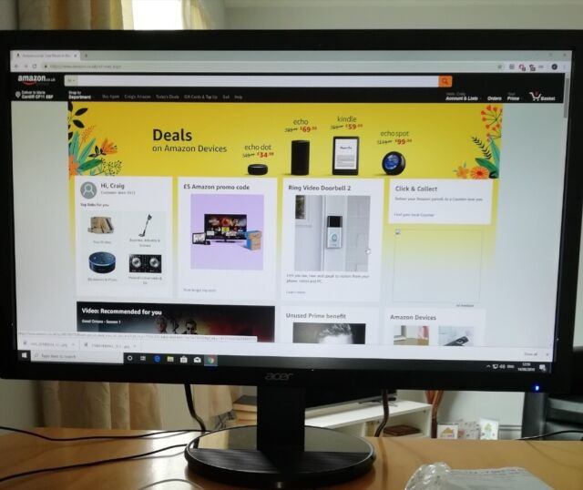 Gaming pc Amd Ryzen 5 2400g win 10 Acer 24 inch 1080p monitor   in Canton,  Cardiff   Gumtree