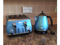 Delonghi kettle and matching. Toaster.