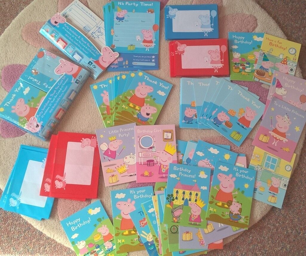Big Bundle Of New Peppa Pig Party Invites Thank You Cards Birthday