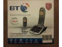 BT4500 Big Button digital cordless phone and answer machine
