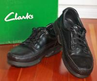 Clarks Leather Shoes -  Black