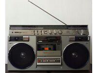 AIWA STEREO 600 VINTAGE PORTABLE STEREO RADIO CASSETTE RECORDER