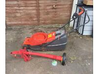 Flymo rotary mower and sovereign strimmer