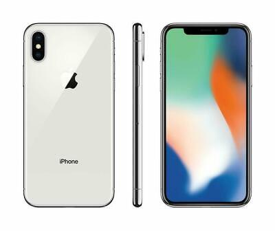 Apple iPhone X 64GB Fully Unlocked (GSM+CDMA) Silver NO FACE ID