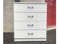 Chest of 4 Drawers White