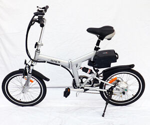 NEW-Voltage-250W-eBike-SILVER-Electric-Folding-Bicycle-36V-Lithium-Bike