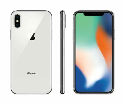 Apple iPhone X 64GB Silver Verizon T-Mobile AT&T GSM Unlocked Smartphone