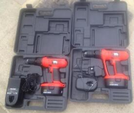 2 Black & Decker EPC18CA Drills