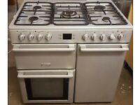 Silver leisure 90cm dual fuel range cooker