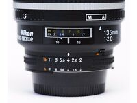 Nikon AF DC-NIKKOR 135mm f/2 D (best portrait lens ever made) mint condition £655