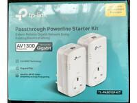 Brand New UNOPENED - TP-LINK Passthrough Powerline Starter Kit (RRP £60)
