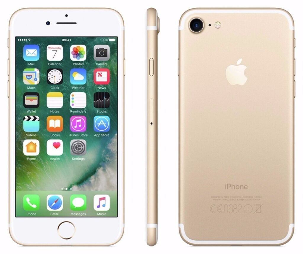 Apple iPhone 7128GBGold (Unlocked) Smartphonein Epsom, SurreyGumtree - This iPhone 7 is a factory unlocked Apple smartphone with gold finish and iOS 10 for effortless usage. New phone unopened. Quick sale thats why selling cheap. No bargaining and time wasters