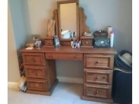 Well made pine dressing table / could be used as a desk