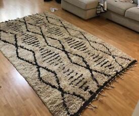 Brand new large beni ourain Moroccan rug scandi