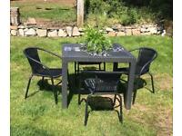 Garden Dining Table and chairs