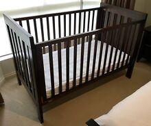Boori Urbane Daintree cot bed + mattress + protectors + sheets Rostrevor Campbelltown Area Preview