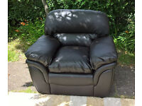 Ex-display Rochester Brown Leather Arm Chair