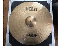 "Paiste Sound Formula 20"" Heavy Ride drum cymbal VGC (Zildjian UFIP)"
