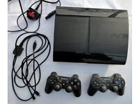 Sony PlayStation 3 12GB Black Console 2 Controllers Good Working Condition No Offers