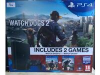 1TB PS4 with box 7 games and 2 remotes as good as new condition