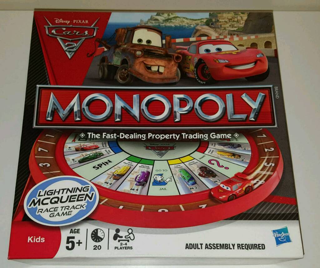 Cars 2 monopoly game.