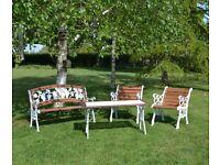 Vintage Very Heavy Cast Iron Refurbished Garden Furniture