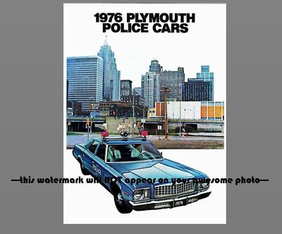 1976 Plymouth Fury Police Car PHOTO Vintage Ad Policeman Officer Vehicle
