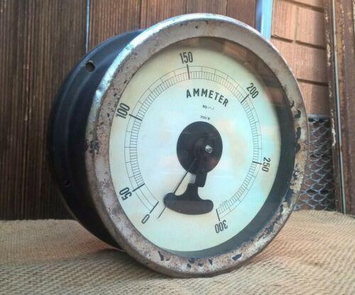 Antique Vintage Industrial Westinghouse Moving Coil Ammeter - Steampunk