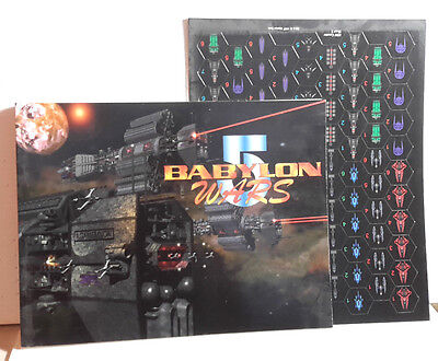 1997 BABYLON 5 Wars Combat Game Core Rules Book w Playing Counters (M-5410)