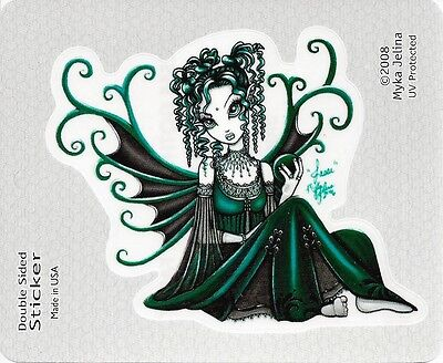 JESSE GREEN FAERY Fairy Sticker Car Decal Myka Jelina goth gothic pagan faerie