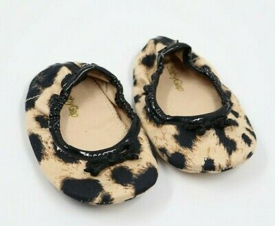 Baby Gap Baby Girl Animal Print Ballerina Flats Shoes Size 6-12 Months
